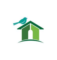 Bird house image logo