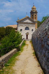 Famous church in Montalcino (Tuscany, Italy)