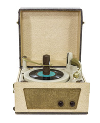 Old Record Player Isolated