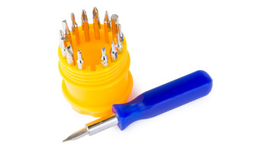 Set of screwdriver heads