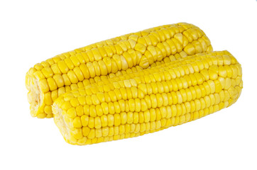 Boiled sweet corn on cob