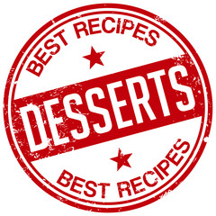 dessert recipes stamp