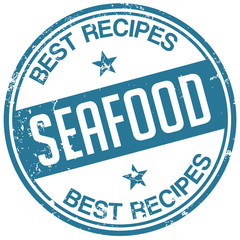 seafood recipes stamp