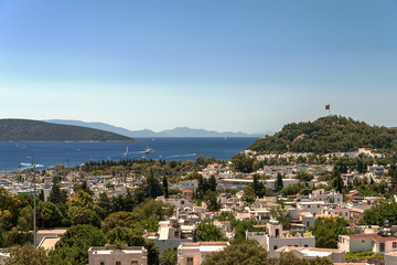 View of Bodrum in  summer day, Turkey