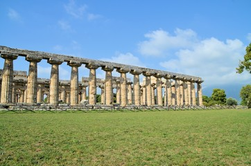 Ancient Greek temples and trees in southern Italy