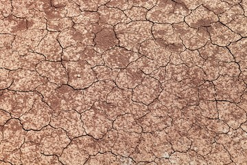 Cracked dry land. Ground without water