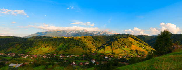 Landscape of romanian mountains in summer