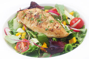 Chicken Breast on Salad