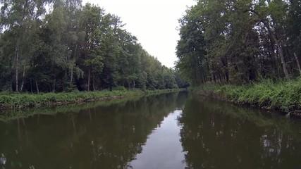 Kanal Fahrt mit dem Hausboot auf dem Kammerkanal