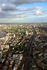London Bridge Train line off into the horizon.