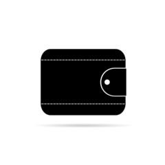 wallet in black icon vector illustration