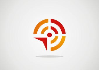 Wireless communication vector design logo template. Creative