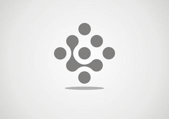 Abstract Technology vector logo design template. Molecule,