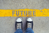Step into the future. poster