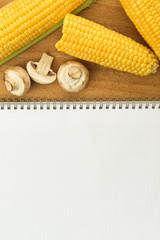 Corn and Edible Mushrooms recipe