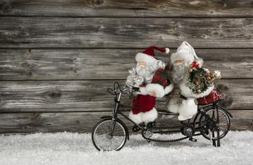Lustiger Weihnachten Hintergrund mit Santa im Team