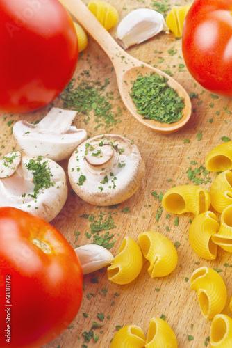 Garlic Parsley Mushroom Tomato Pasta Recipes