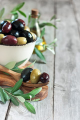 Mixed olives background