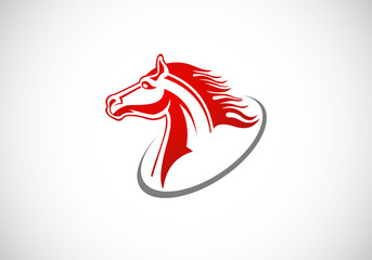 horse drawing vector logo