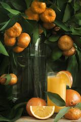 Mandarine and orange juice