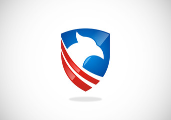 shield eagle vector logo