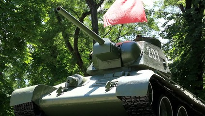 Soviet tank monument of WWII