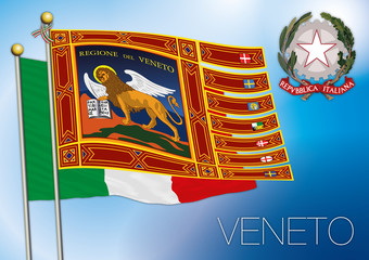 veneto regional flag, italy