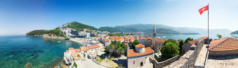 Panoramic view of Budva city