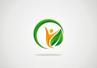 Ecology logo template elements active