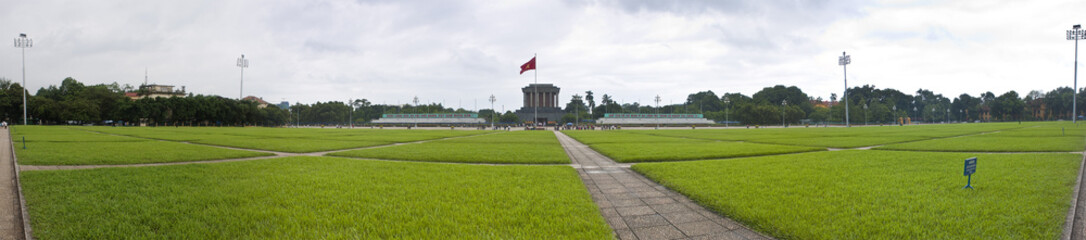 Park in front of Ho Chi Minh mausoleum in Hanoi, Vietnam.