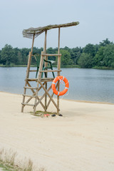 lifeguard seat at lake side