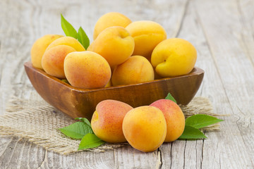 fresh apricots in a bowl