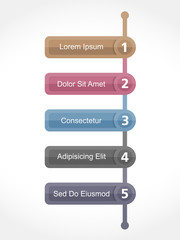 Design Template with Five Elements