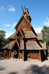 Wooden Church in Norway Oslo