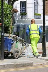 Straßenkehrer in London