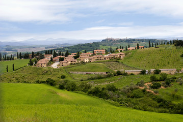 The landscape around the city of Monticello, Tuscany, Italy