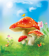 red magic mushrooms