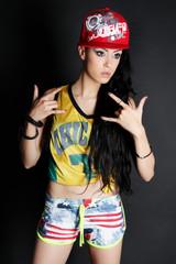 Beautiful rapper girl