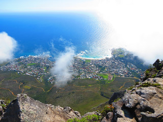 Paisagem de Cape Town com vista da Table Mountain