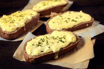 Tasty cheese sandwich