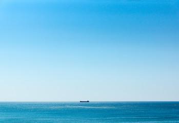 ship on the horizon