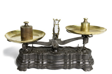 Old Scale With Weight Measures