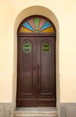 wooden house door