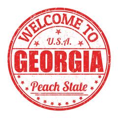 Welcome to Georgia stamp