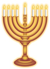 Chanukah Burning Lampstand