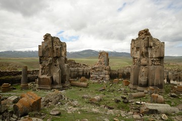 Church ruins in city of Ani