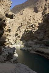 Wadi Shab, Sur, Oman. Water Paradise trough rocks