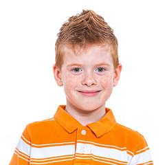 Cute red-haired boy