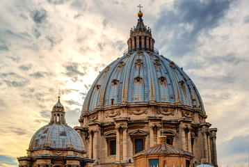 Dome of St. Peter's Basilica in Rome
