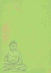 buddha hintergrund grün